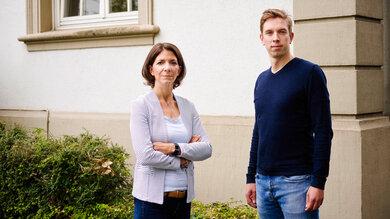 Dr. Anja Scheiff, Apothekerin und Leiterin des Ressorts Medizin, und Thomas Berghoff, Leiter des Ressorts Prävention, beide bei der Nationalen Anti-Doping Agentur