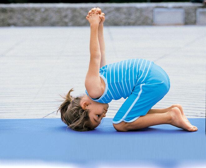 Yogaübung Der Hase