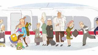 Stress bei Zugfahrten