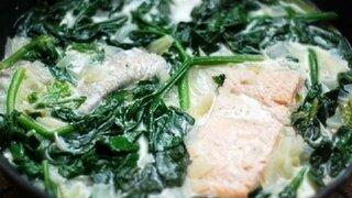 Spinat-Fischpfanne