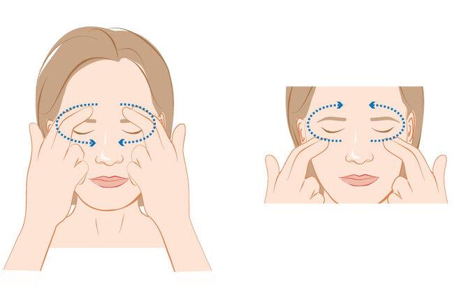 Illustration: Augenübung