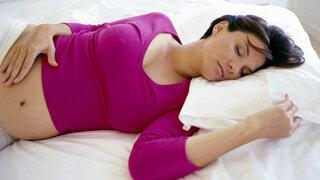 Schlafende Schwangere