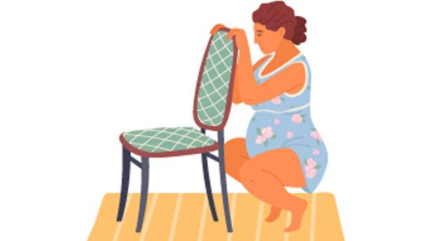 Geburtspostionen Stuhl