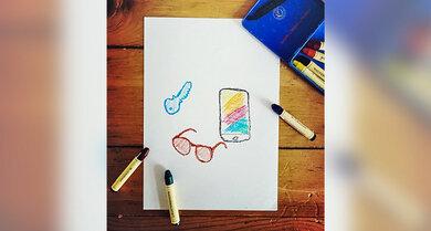 Handy weg? Brille verlegt? Keine Sache. Zeichnet einfach die Gegenstände auf, die Ihr vermisst und schickt die Kinder auf Sachensuche.