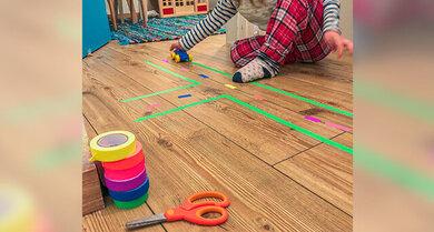 Erinnert ihr euch noch an diese Straßenteppiche? Es gibt eine schöne und kreative Alternative: mit Klebeband.