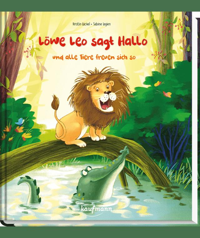 Löwe Leo sagt Hallo