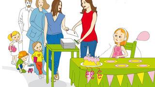 Illustration: Kinderfotos auf Social Media