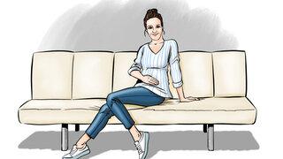 Illustration Frau auf Couch