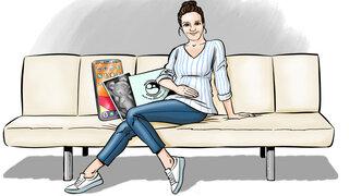 Illustration Schwanger Vorfreude