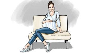 Protagonistin hochschwanger