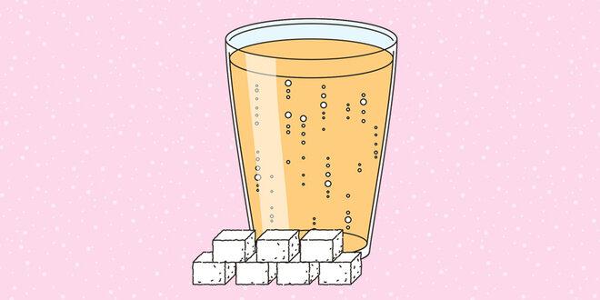 Illustration Apfelschorle Zucker