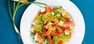 Wassermelonensalat mit Garnelen