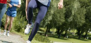 Sportverletzung beim Laufen