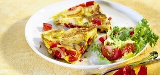 Bunte Zwiebel-Tortilla