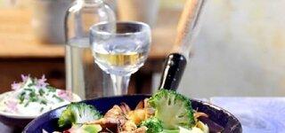 Brokkoli-Schnitzel-Pfanne