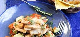 Hähnchenbrust auf Provence-Gemüse