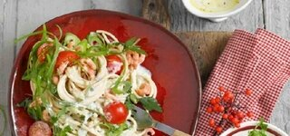 Avocado-Krabben-Pasta