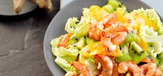 Chinakohlsalat mit Garnelen