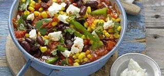 Gemüse-Chili mit Feta