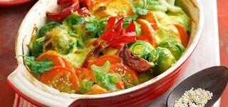 Gratiniertes Curry-Gemüse