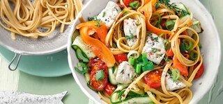 Gemüse-Fisch-Pasta