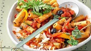 Paprika-Tomaten-Pasta