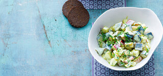 Herings-Salat mit Estragon-Remoulade