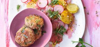 Frikadellen mit Gurken-Salsa