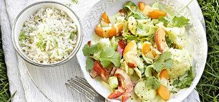 Fruchtiges Gemüse-Curry mit Kokos-Reis