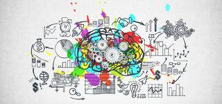 Kreative Zeichnung vom Gehirn