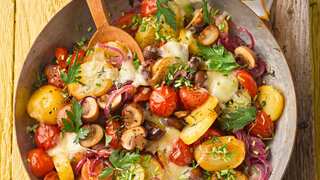 Tomaten-Pilz-Gröstl
