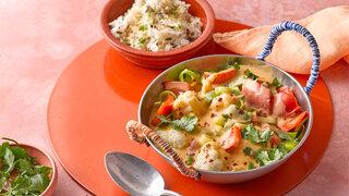 Thai-Gemüse-Curry mit Kokosreis