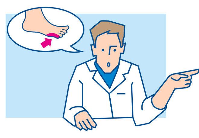 Illustration Fuß Arzt Sprechblase