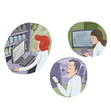 Ein Klick, ein Blick: Mit einem aktuell gehaltenen Medikationsplan sind Patienten, Ärzte und Apotheker immer über die Therapie im Bilde
