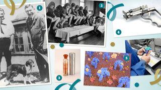 Composing mit alten Fotos aus 100 Jahre Insulin