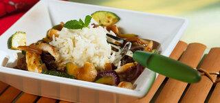 Pute-Zucchini-Wok-Gericht