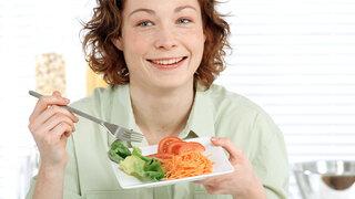 Frau Salat Essen Gesund