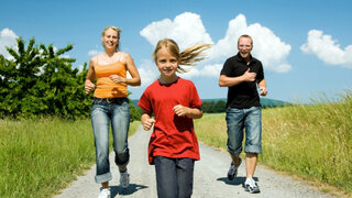 Joggen als Familiensport