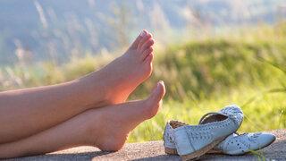 Flache Schuhe - gesunde Füße