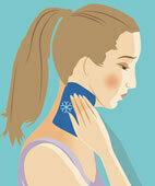Ein kalter Waschlappen am Hals hilft schnell, wenn der Kreislauf schlapp macht