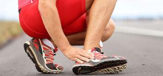 Sportler mit Ermüdungsverletzung