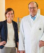 Dr. Peter Storch, Arzt, Katja Müller, Psychotherapeutin am Mitteldeutschen Kopfschmerzzentrum der Uniklinik Jena