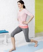 Vierte Übung ein Knie beugen