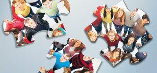 Puzzleteile mit Menschen