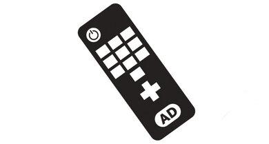 Der richtige Knopf: Über die Taste AD lässt sich die Tonspur für Hörfilme aktivieren