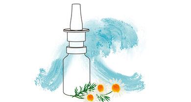 Steife Brise für die Nase: Mit salzhaltigen Sprays die Nasenhöhlen freispühlen