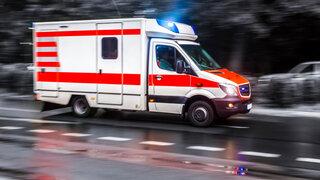 Krankenwagen mit Sirene