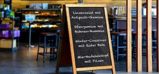 Kreidetafel Gericht Menü Restaurant