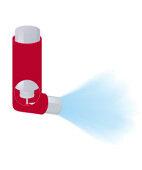 Dosier-Aerosol: Der Wirkstoff ist in einer treibgashaltigen Sprühflüssigkeit gelöst
