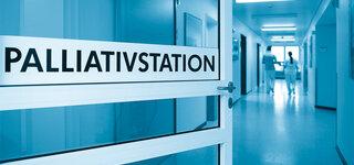 Palliativstation: Flur eines Krankenhaus